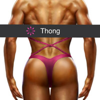 Figure Suit Back Coverage - Thong Cut