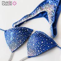 Blue Figure Competition Suit (FS166)