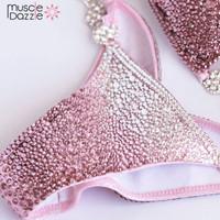 Pink Ombre Crystal Bikini