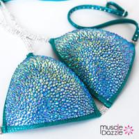Teal Crystal Competition Bikini (CB137)
