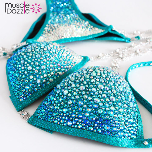 Turquoise Crystal Competition Bikini