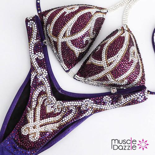 Purple Medieval Figure Competition Suit