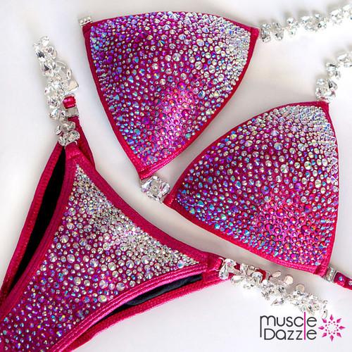 Raspberry Crystal Competition Bikini