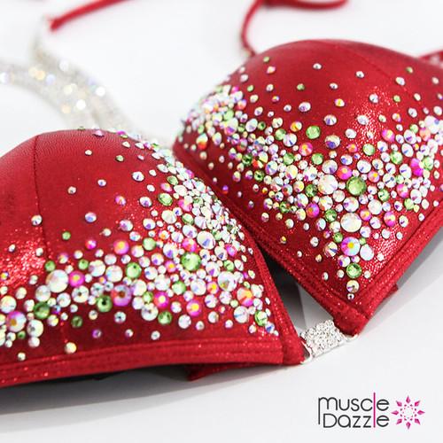 Red Crystal Competition Bikini (CB206)