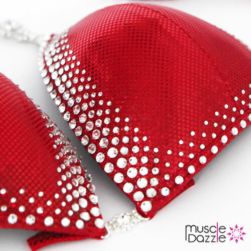 Red Crystal Competition Bikini (CB211)