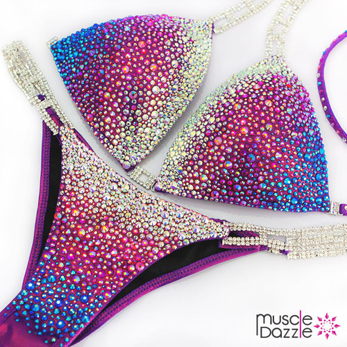 Purple Fitness Competition Bikini