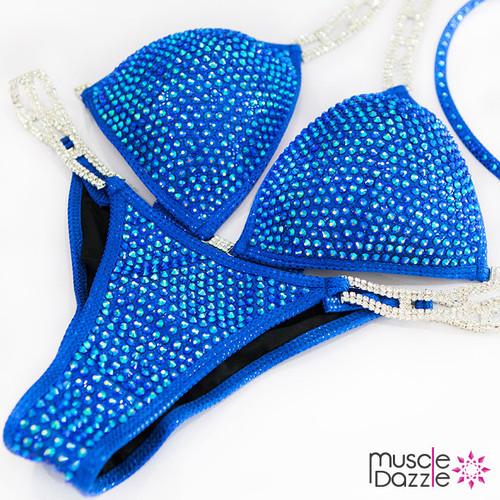 Blue Fitness Competition Bikini