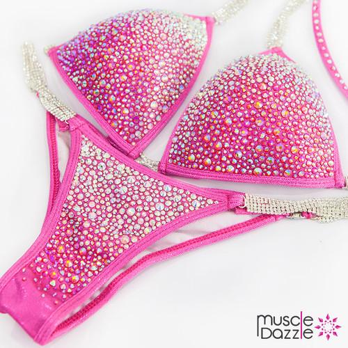 Pink Bikini Competition Suit