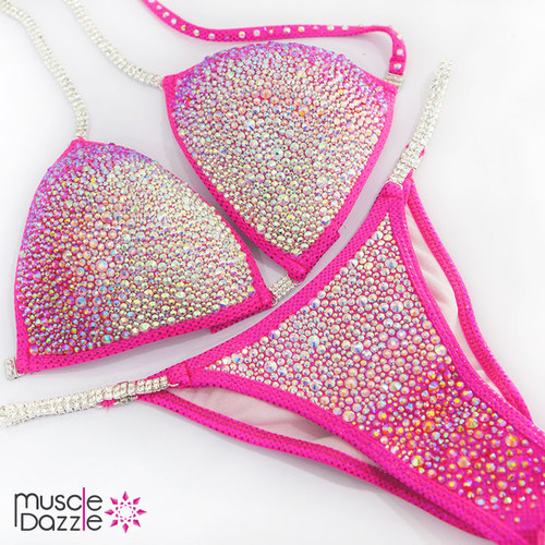 Pink Ombre Competition Bikini