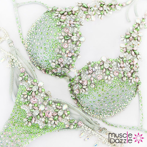 Light Green Diva Competition Bikini