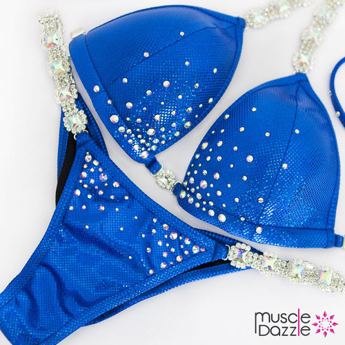 Affordable blue competition bikini