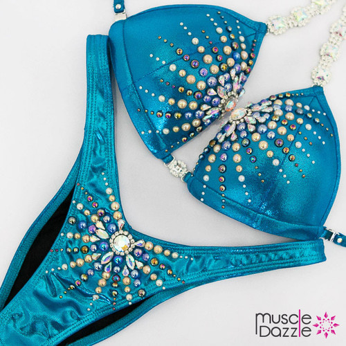Ready Made Blue figure competition suit (FS490RM)