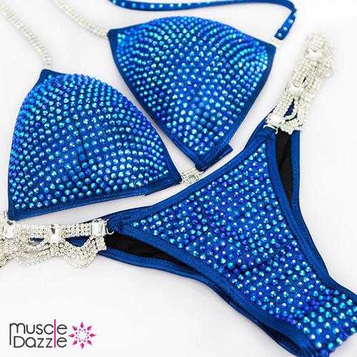 Navy Blue Swarovski Competition Bikini
