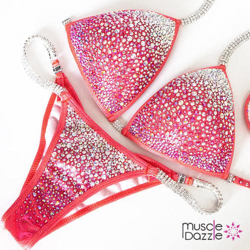 Swarovski Coral Competition Bikini