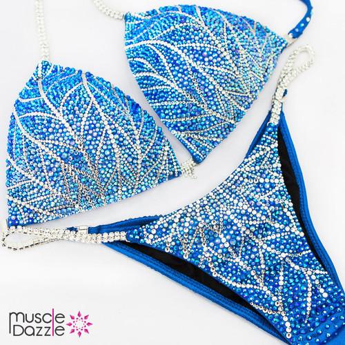 Swarovski Blue Competition Bikini