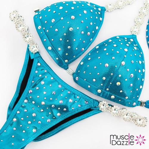 Swarovski Competition Bikini Aqua Blue