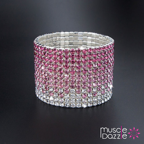 Pink Crystal Bracelet | Bikini Competition Stage Jewelry