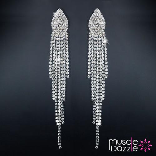 Tassel Earrings | Crystal Bikini Competition Stage Jewelry