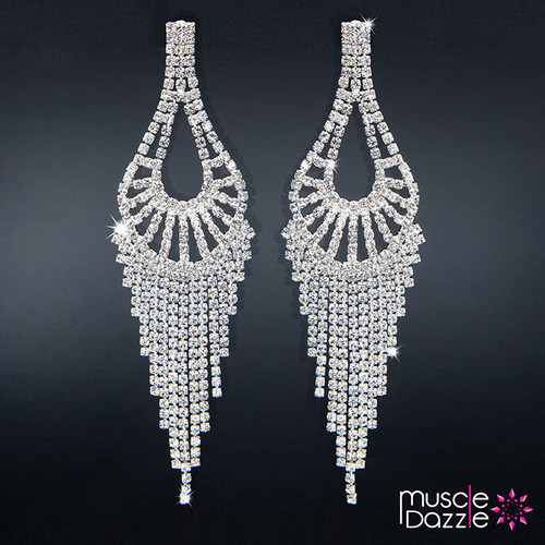 Earrings | Rhinestone Figure Competition Stage Jewelry