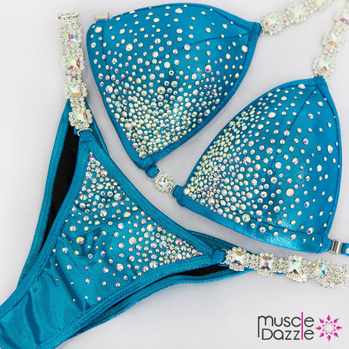 Light blue competition suit