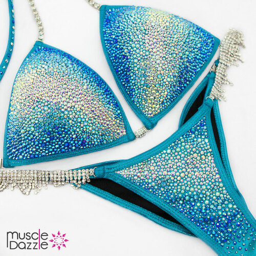 Aqua Blue Competition Bikini