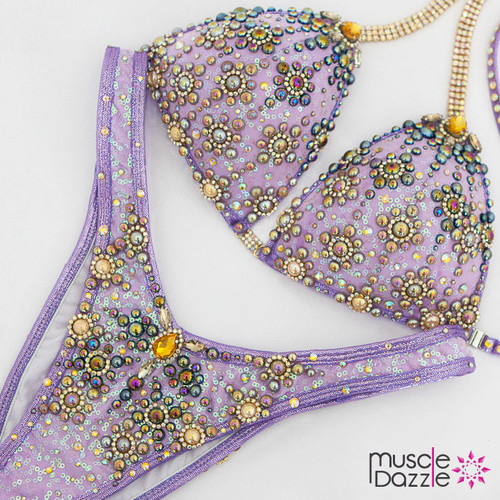 Ready Made Lavender Figure Competition Suit (FS484RM)
