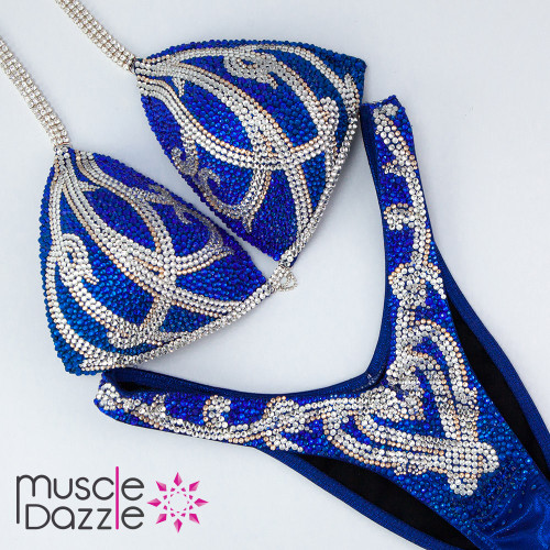 Ready Made Royal Blue Figure Suit (FS441RM)