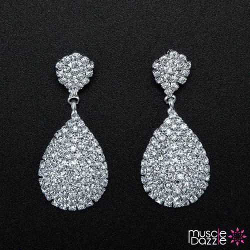 Rhinestone Bikini Figure Competition Earrings