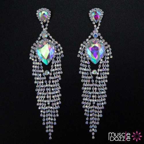 Large Stone Bikini Competition Earrings