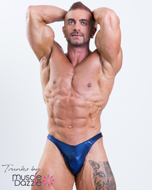 Dark Blue Mens Bodybuilding Posing Trunks