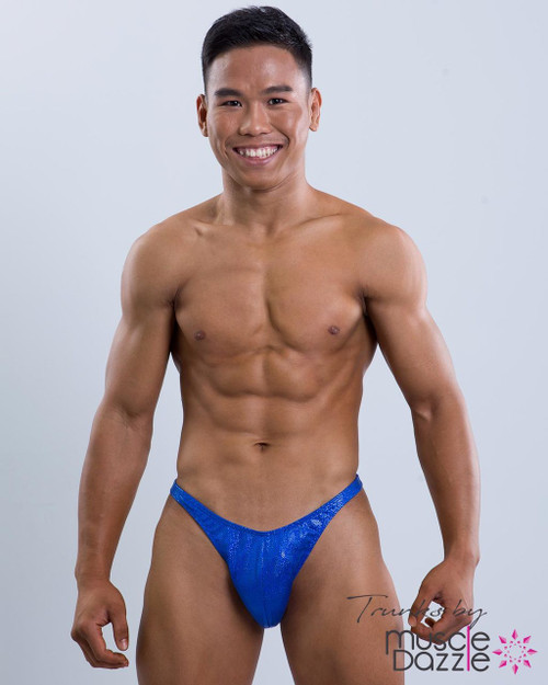 Royal Blue Bodybuilding Posing Trunks