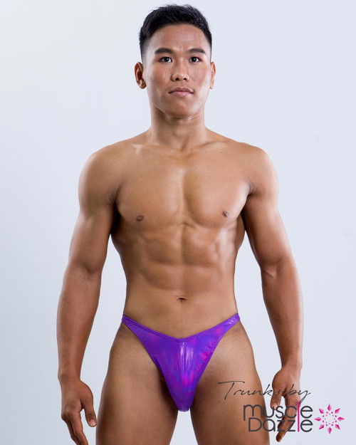 Purple Blue Posing Trunks