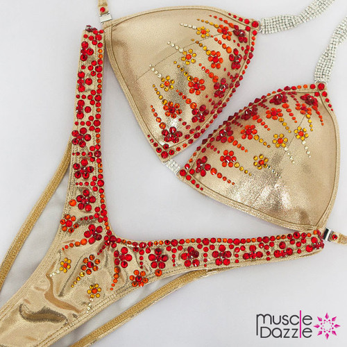 Gold Crystal Figure Suit
