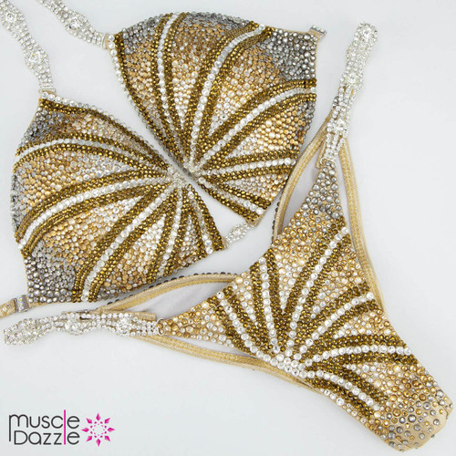 Gold Pattern Competition Bikini