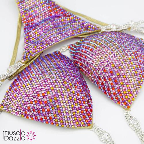 Magenta Gold Competition Bikini