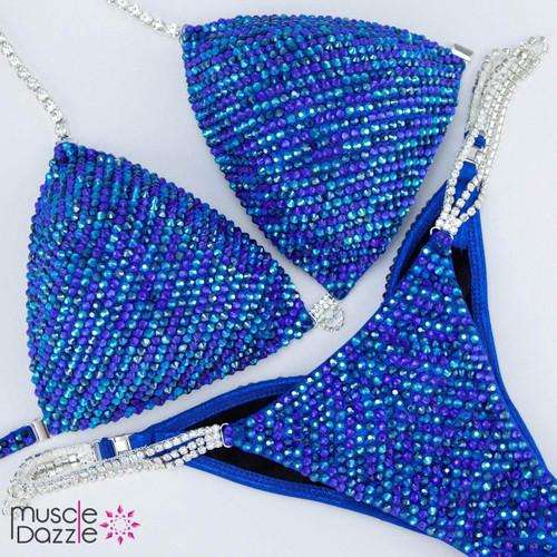 Light and Dark Blue Competition Bikini