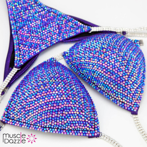 Pink and Blue Competition Bikini