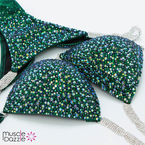 Sapphire and Emerald Competition Bikini