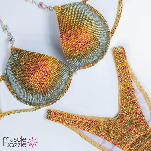 Gold Volcano Competition Bikini