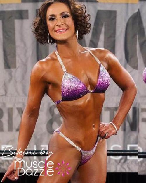 Purple crystal competition bikini