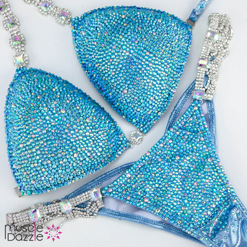 Baby Blue Competition Bikini