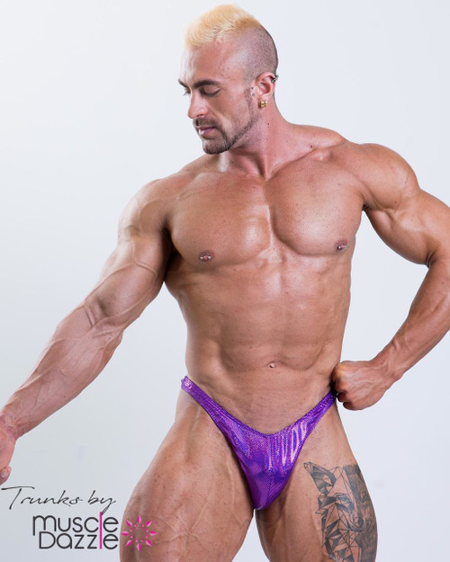 Purple Bodybuilding Posing Trunks