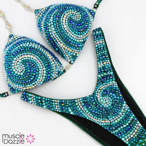 Blue and Turquoise Figure Suit