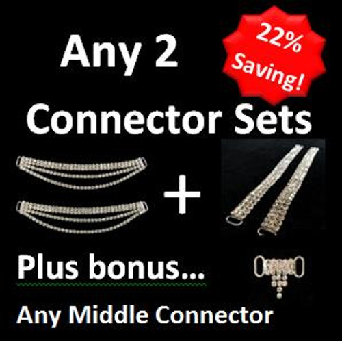 Cheap Rhinestone Bikini Connectors