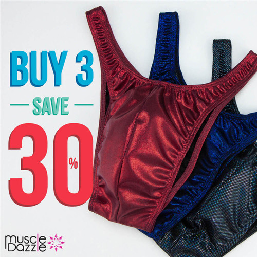 Our Best Posing Trunks Offer... Buy 3 Save 30%!
