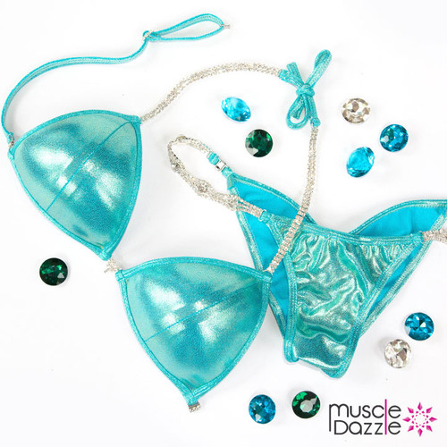 Mint Green Competition Bikini