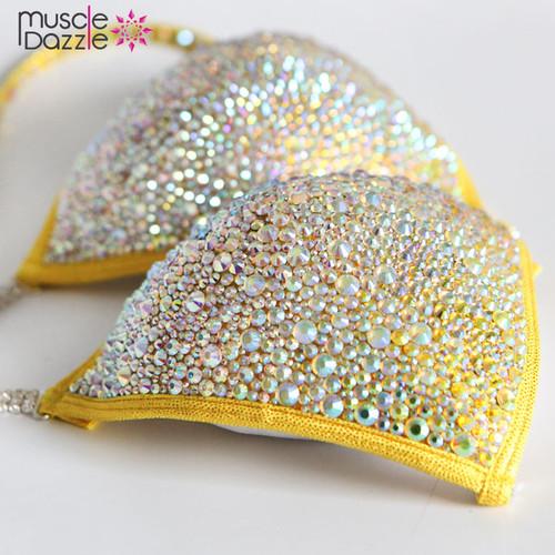 Yellow Ombre Crystal Bikini