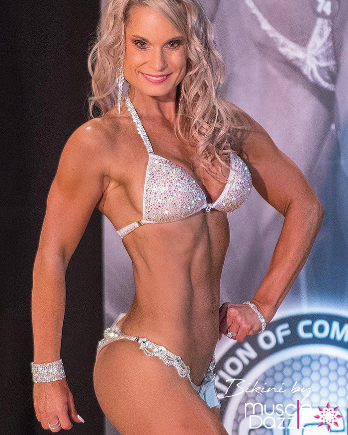 Silver Crystal Competition Bikini