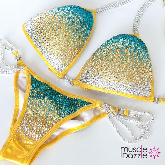 Yellow Crystal Competition Bikini (CB187)
