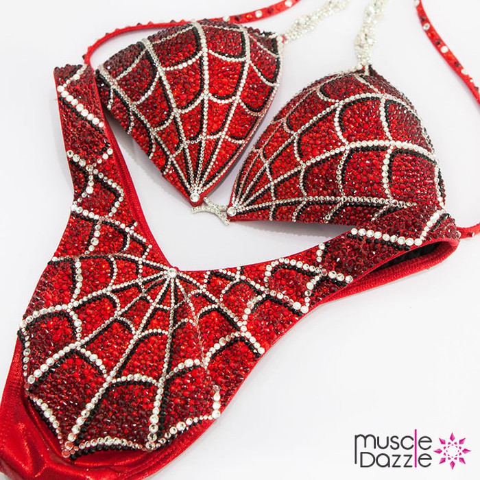 Red Spiderman Figure Competition Suit